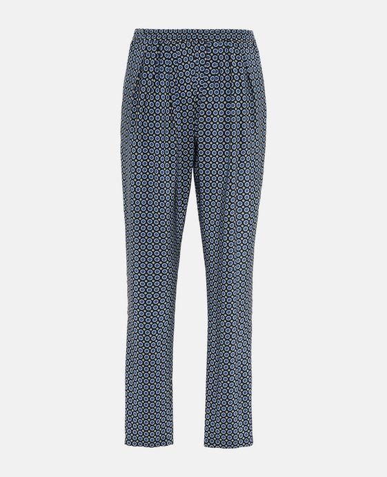 Tie Print Pleated Christine Trousers
