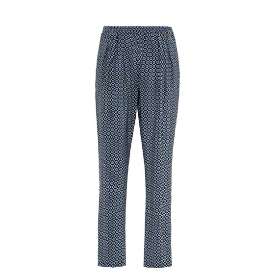 Tie Print Pleated Christine Pants