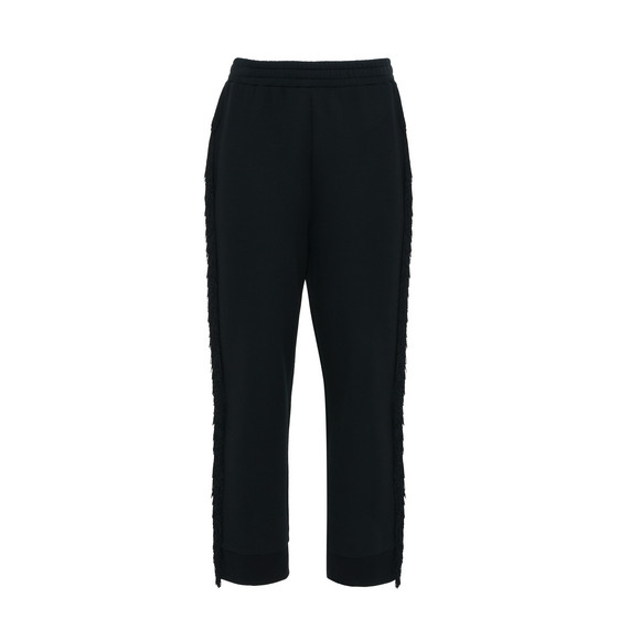 Black Fringe Trousers