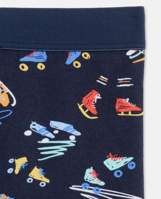 STELLA McCARTNEY KIDS Tula Blue Scribble and Skate Print Leggings Bottoms D h