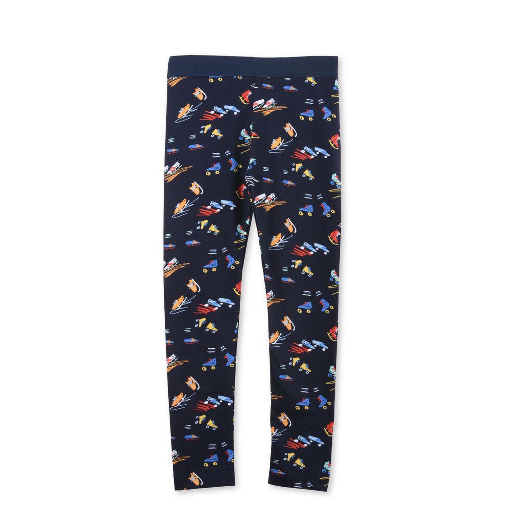 Tula Blue Scribble and Skate Print Leggings - STELLA MCCARTNEY KIDS