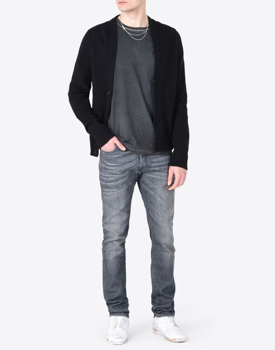 MAISON MARGIELA Distressed slim fit 5-pocket jeans Jeans [*** pickupInStoreShippingNotGuaranteed_info ***] d