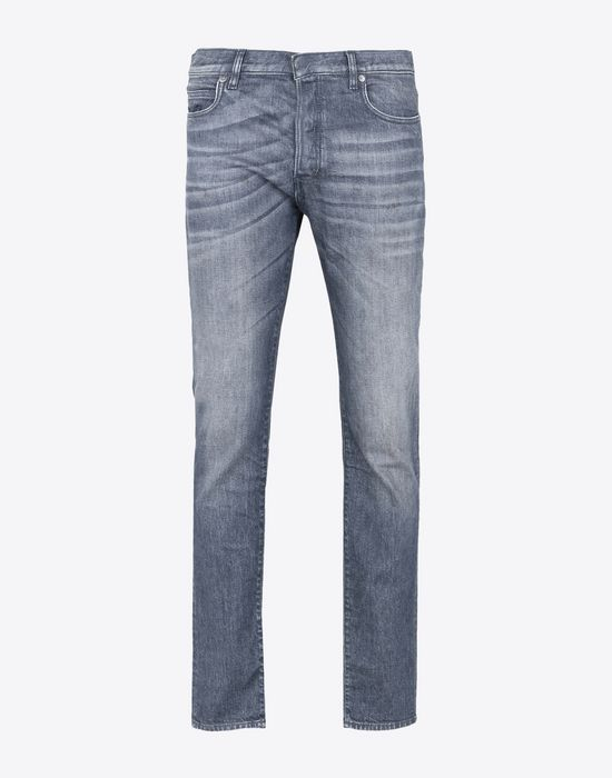 MAISON MARGIELA Distressed slim fit 5-pocket jeans Jeans Man f
