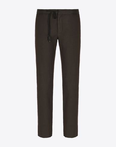 MAISON MARGIELA Stretch wool blend drawstring trousers Casual pants U f