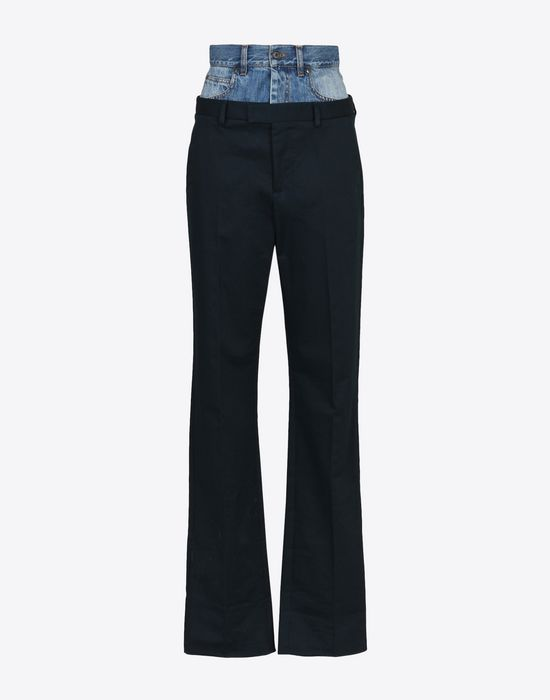 MAISON MARGIELA Fused jean-trousers Casual pants Woman f