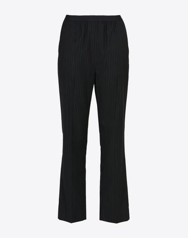 MAISON MARGIELA Dress pants D Pinstripe virgin wool blend trousers f