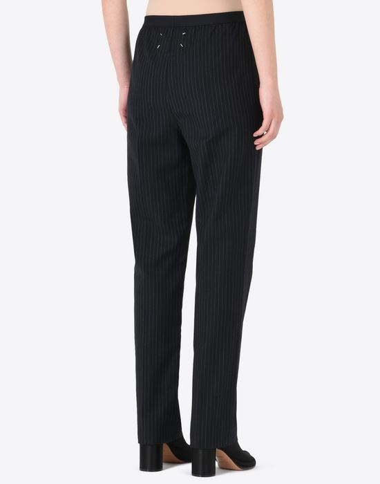 MAISON MARGIELA Pinstripe virgin wool blend trousers Formal trousers D e