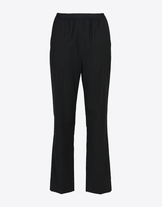 MAISON MARGIELA Pinstripe virgin wool blend trousers Formal trousers D f