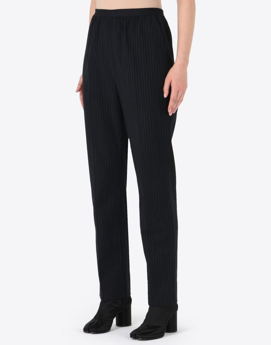 MAISON MARGIELA Pinstripe virgin wool blend trousers Formal trousers D r