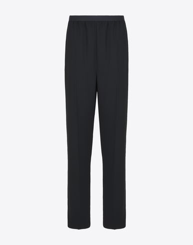 MAISON MARGIELA Casual pants D Relaxed fit crepe trousers f