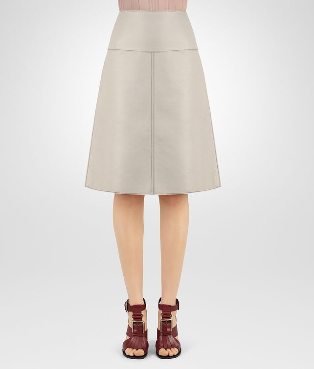 BOTTEGA VENETA SKIRT IN CEMENT DEER Skirt or trouser D fp