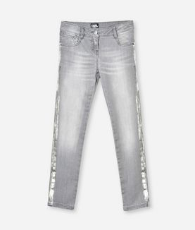 KARL LAGERFELD GREY SLIM-FIT JEANS