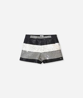 KARL LAGERFELD SEQUIN YARN-DYED SHORTS