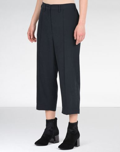 MM6 MAISON MARGIELA Casual pants D Cropped microfiber trousers f