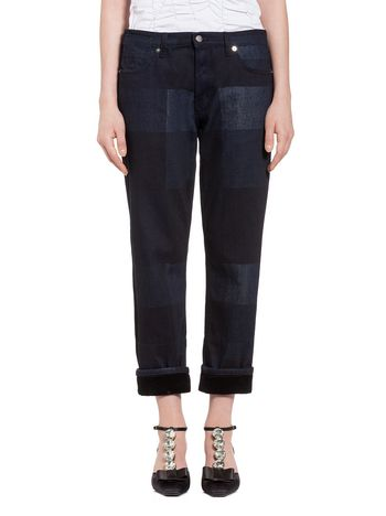 Marni Pants in denim Chess  Woman