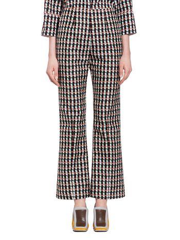 Marni Pants in cotton silk with Ripple print Woman