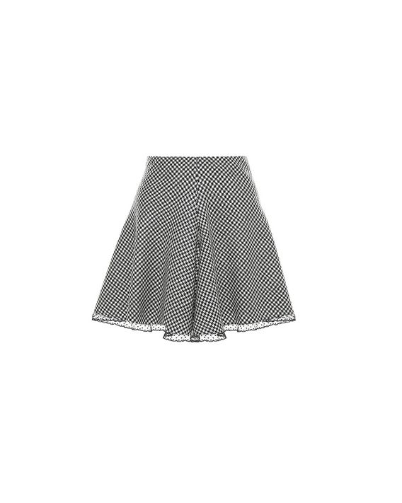 93f7efd1a62e REDValentino Fitted And Flared Wool Houndstooth Skirt - Skirt for ...
