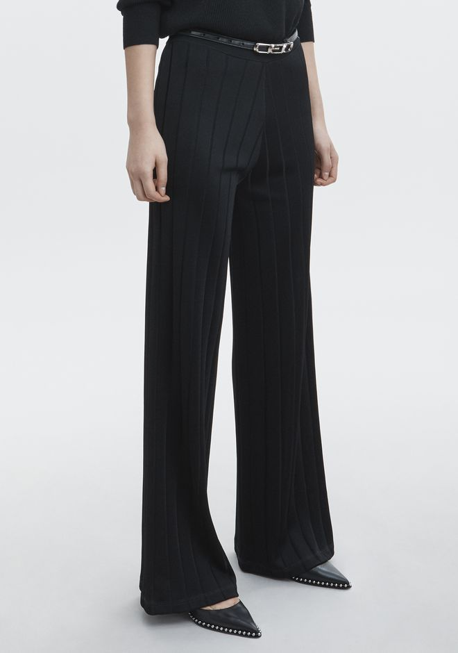 ALEXANDER WANG new-arrivals-ready-to-wear-woman EXCLUSIVE TRACK PANTS WITH BARCODE LOGO