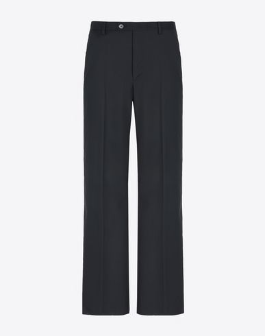 MAISON MARGIELA Casual pants U Flared wool poplin trousers f