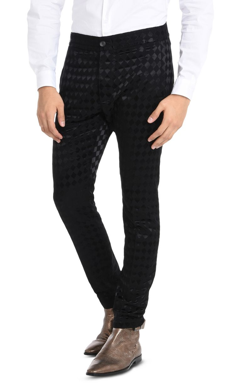 Just Cavalli Woman Jacquard Straight-leg Pants Black Size 42 Just Cavalli R3sqpla8AK