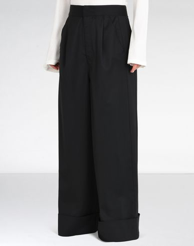 MM6 by MAISON MARGIELA Casual pants D Belted wide leg trousers f