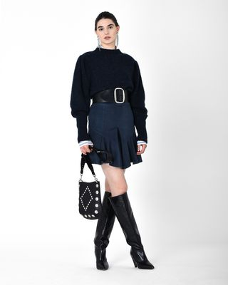 PARMA moleskin mini skirt