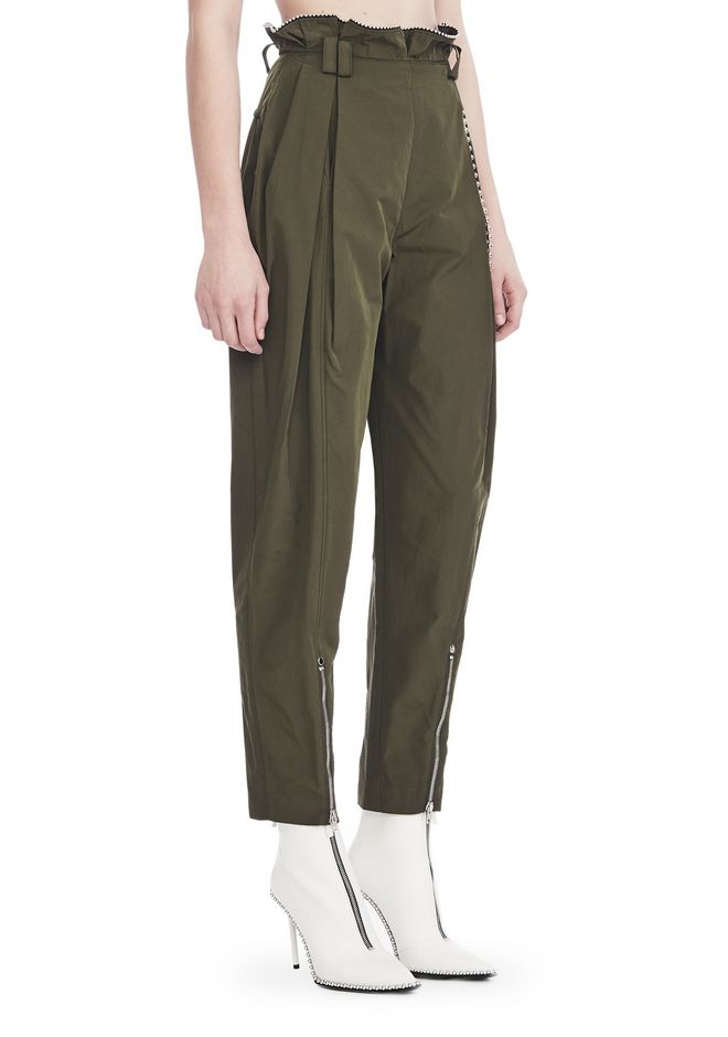 ALEXANDER WANG PANTS Women HIGH WAISTED ARMY PANTS WITH BALLCHAIN