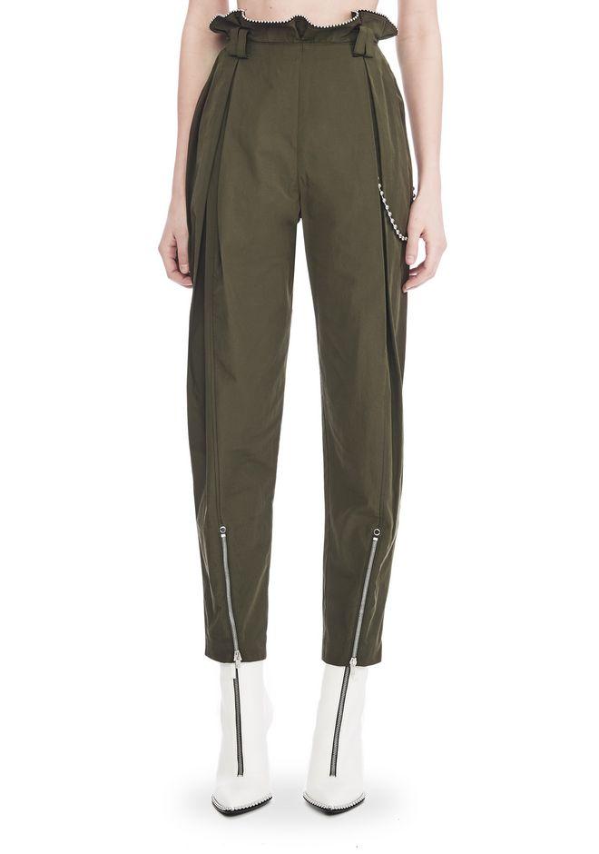 ALEXANDER WANG HIGH WAISTED ARMY PANTS WITH BALLCHAIN 裤装 Adult 12_n_d