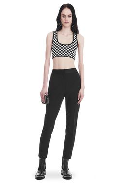 SLIM FIT TROUSERS WITH BALL CHAIN TRIM