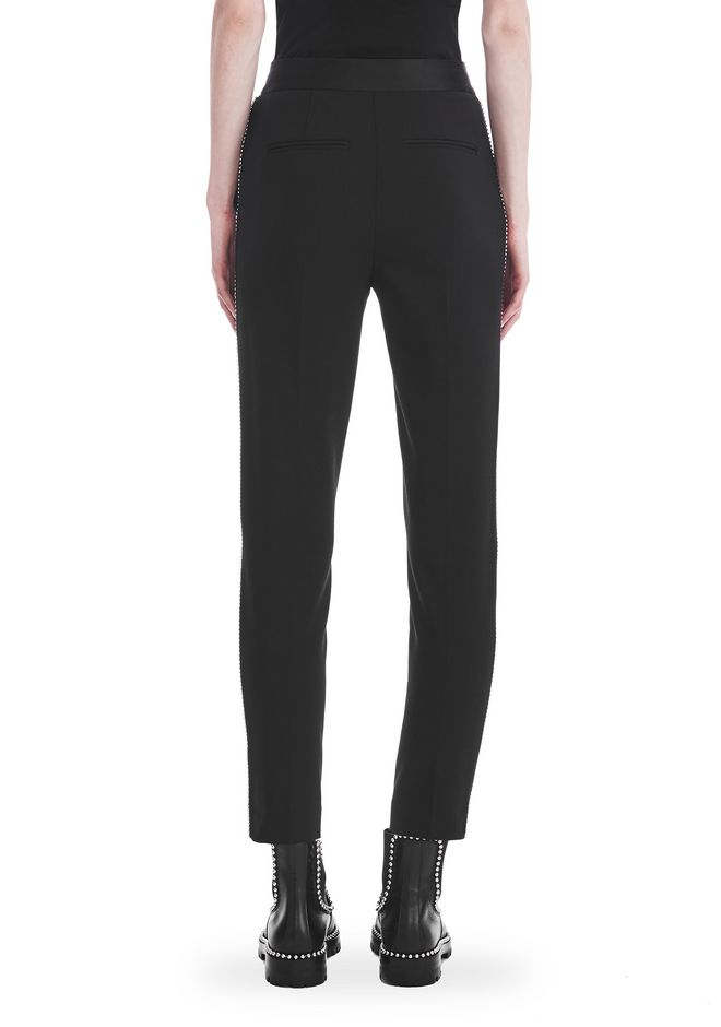 ALEXANDER WANG SLIM FIT TROUSERS WITH BALL CHAIN TRIM 裤装 Adult 12_n_a