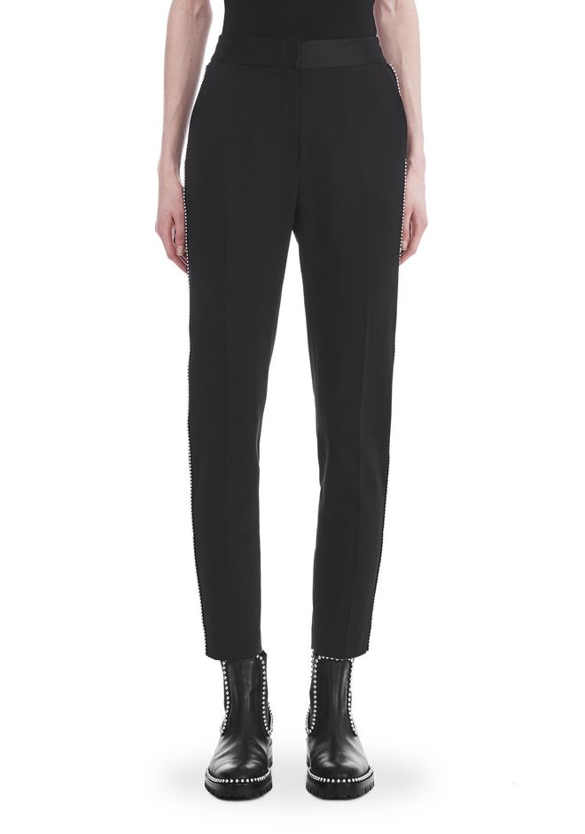 ALEXANDER WANG SLIM FIT TROUSERS WITH BALL CHAIN TRIM 裤装 Adult 12_n_d
