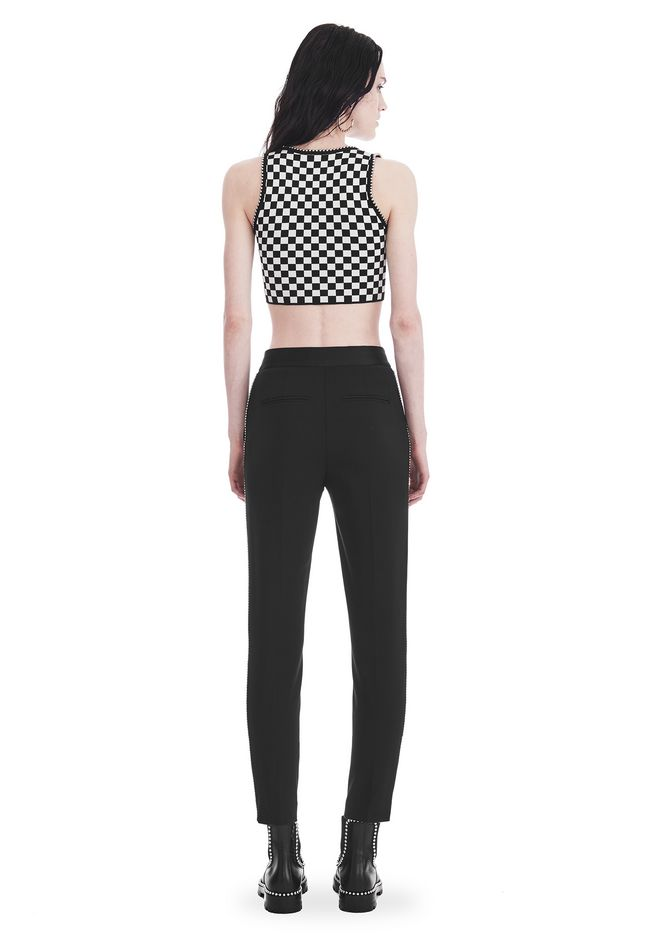 ALEXANDER WANG SLIM FIT TROUSERS WITH BALL CHAIN TRIM 裤装 Adult 12_n_r