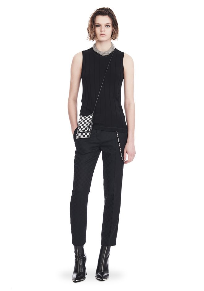 ALEXANDER WANG PANTS CROPPED SKATER PANTS WITHBALL CHAIN
