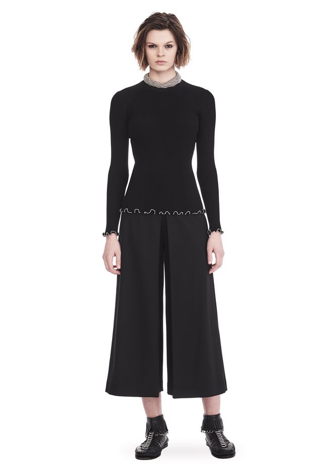 ALEXANDER WANG PANTS HIGH WAISTED PANT WITH FOLD FRONT DETAIL