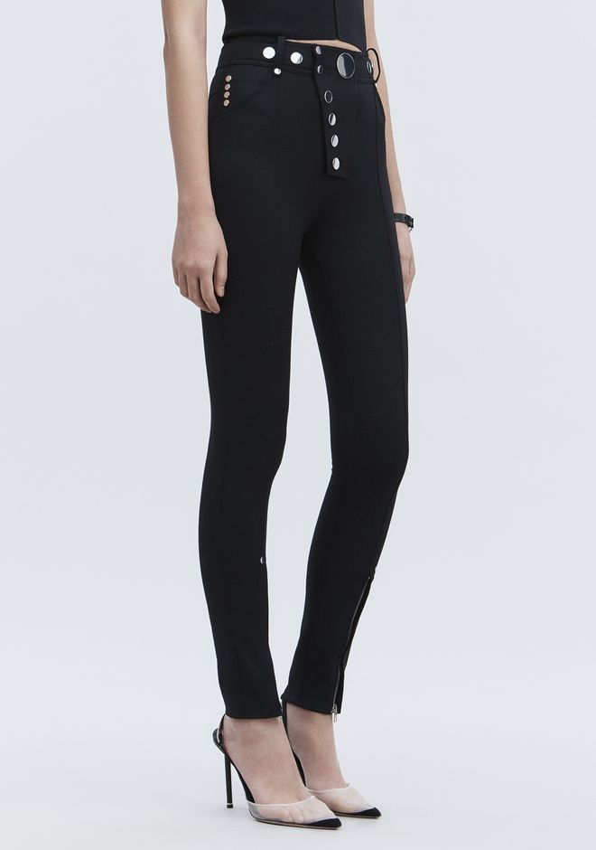 ALEXANDER WANG new-arrivals-ready-to-wear-woman HIGH-WAISTED LEGGINGS WITH MULTI-SNAP DETAIL