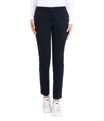 NAPAPIJRI MERIDIAN WOMAN CHINO TROUSERS,DARK BLUE