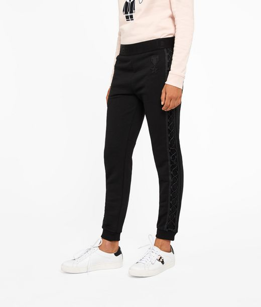 KARL LAGERFELD Lace Up Sweatpants W/ Patches 12_f
