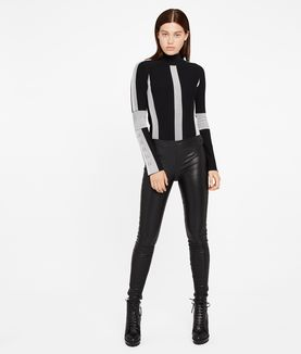 KARL LAGERFELD IKONIK LEATHER LEGGINGS
