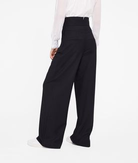 KARL LAGERFELD HIGH-WAISTED WIDE LEG PANTS