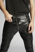 DSQUARED2 Leather Biker Pants 裤装 男士