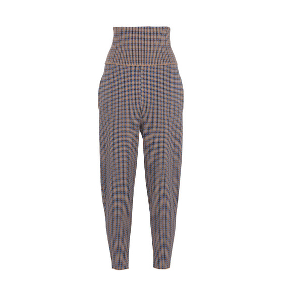 Pantaloni Tapered a Quadri