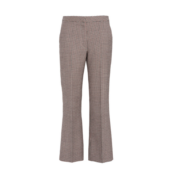 Check Cropped Tailoring Trousers