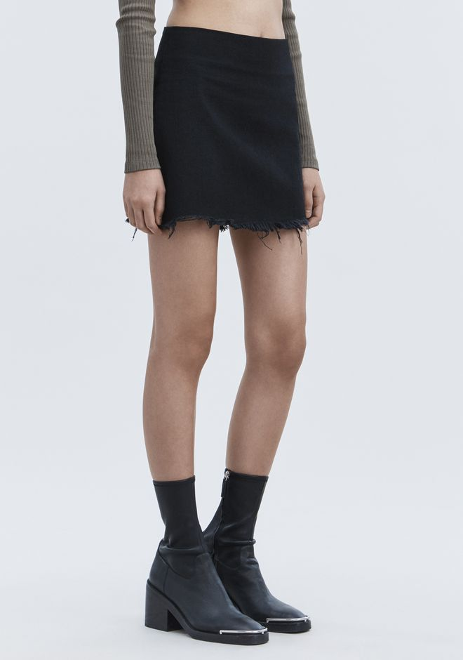 ALEXANDER WANG denim-x-aw ZIP MINI SKIRT