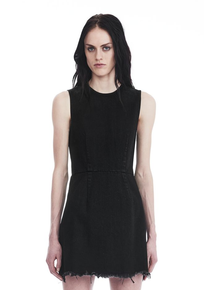 ALEXANDER WANG Short Dresses ZIP DENIM DRESS