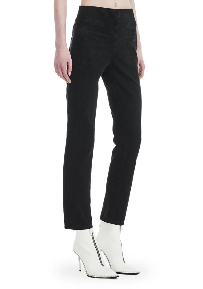 ALEXANDER WANG denim-x-aw CULT ZIP STRAIGHT LEG JEAN