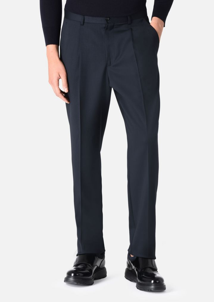 98817516732 VIRGIN WOOL TROUSERS WITH DARTS