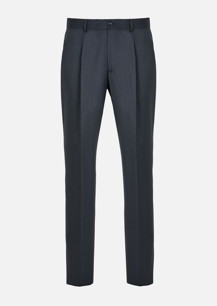 ... EMPORIO ARMANI VIRGIN WOOL TROUSERS WITH DARTS Casual Pants Man r ...