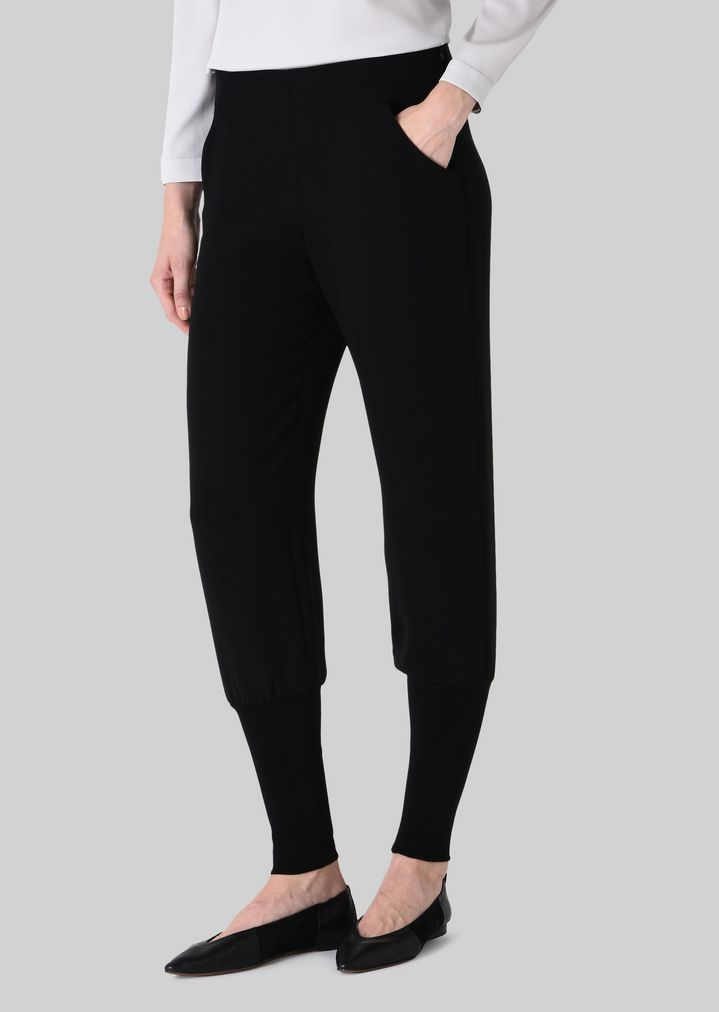 silk cady sweatpants woman giorgio armani