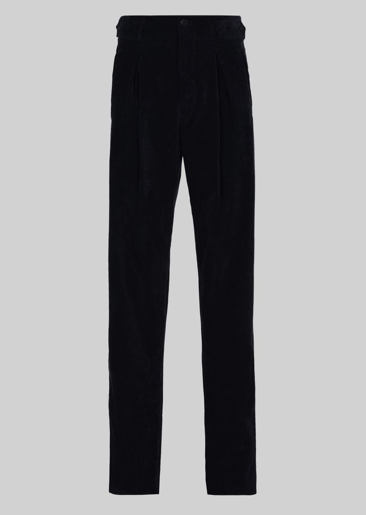 ... GIORGIO ARMANI CASUAL VELVET TROUSERS Casual Pants Man ...
