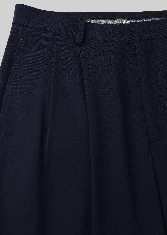 GIORGIO ARMANI PANTALONI CLASSICI IN TELA DI LANA STRETCH Pantaloni Casual U b
